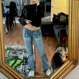 Vintage American jeans ultra low waisted bootcut